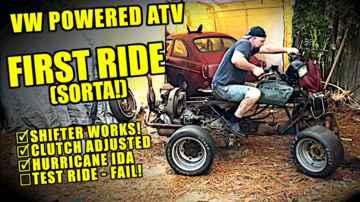 Test Ride (SORTA!) - VW Motorcycle - ATVW Junkyard Build - Part 11