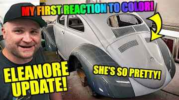 First Color Reveal Update! - ROTTEN OLD CHOP TOP 1956 VW BEETLE - 155