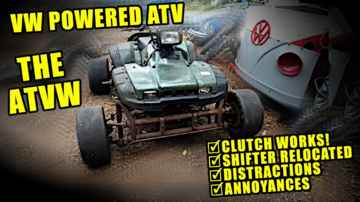 Clutch Works! - Shifter Relocation - VW Motorcycle - ATVW Junkyard Build - Part 10